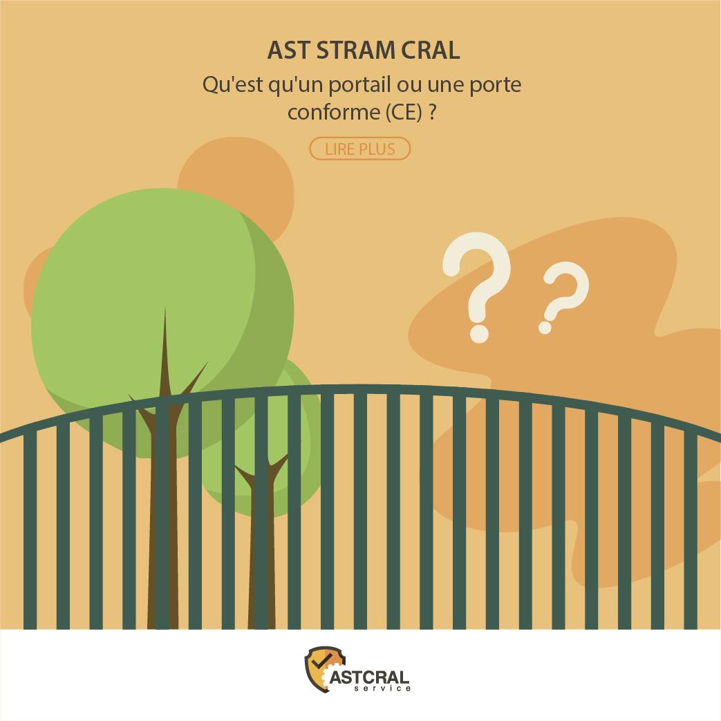 Qu'est qu'un portail ou une porte conforme (CE) ?